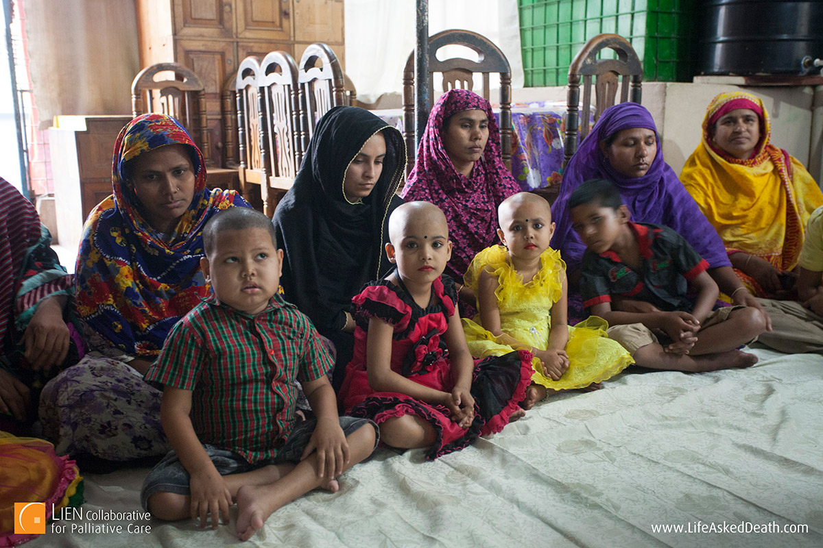 Mothers and children - staying at the free shelter provided by Ashic Foundation for Childhood Cancer in Dhaka, Bangladesh greatly increases the likelihood that these young patients are able to follow through and complete the course of treatment.