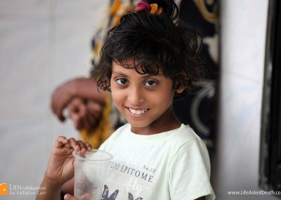 Family matters - a child of one the patients seeking treatment in the main general hospital in Dhaka, Bangladesh.